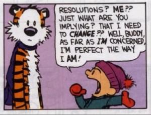 Les résolutions selon Calvin & Hobbes